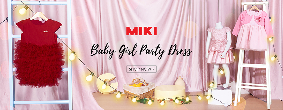 MIKI Baby Girl Party Dress